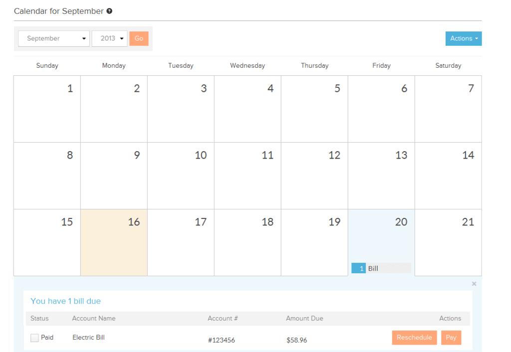 Power Wallet Calendar