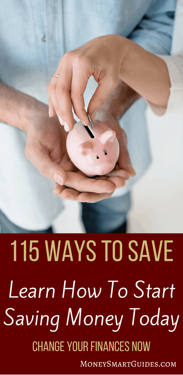 How To Save Money: 115 Simple Ways To Save Money | If you are looking to save money, this is the article you have to read. Amazing tips to get your started and over 115 tricks to help you save the most money! Includes how to save money on food, save money on a wedding, save money on a house, save money on a car, and how to save money each month. Click through to learn more!