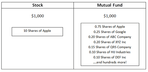 stock versus mutual fund