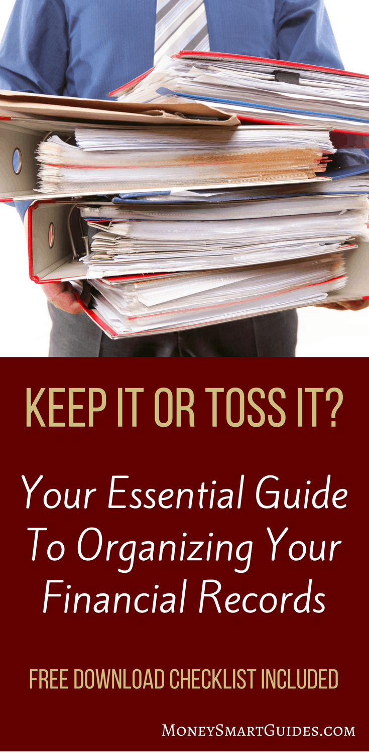 Your Essential Guide For How Long To Keep Financial Statements | If you have a mountain of old reports, receipts, and tax returns, here is your guide for what to keep and what to toss. A step by step process you can do quickly. Click through to download the free printable!