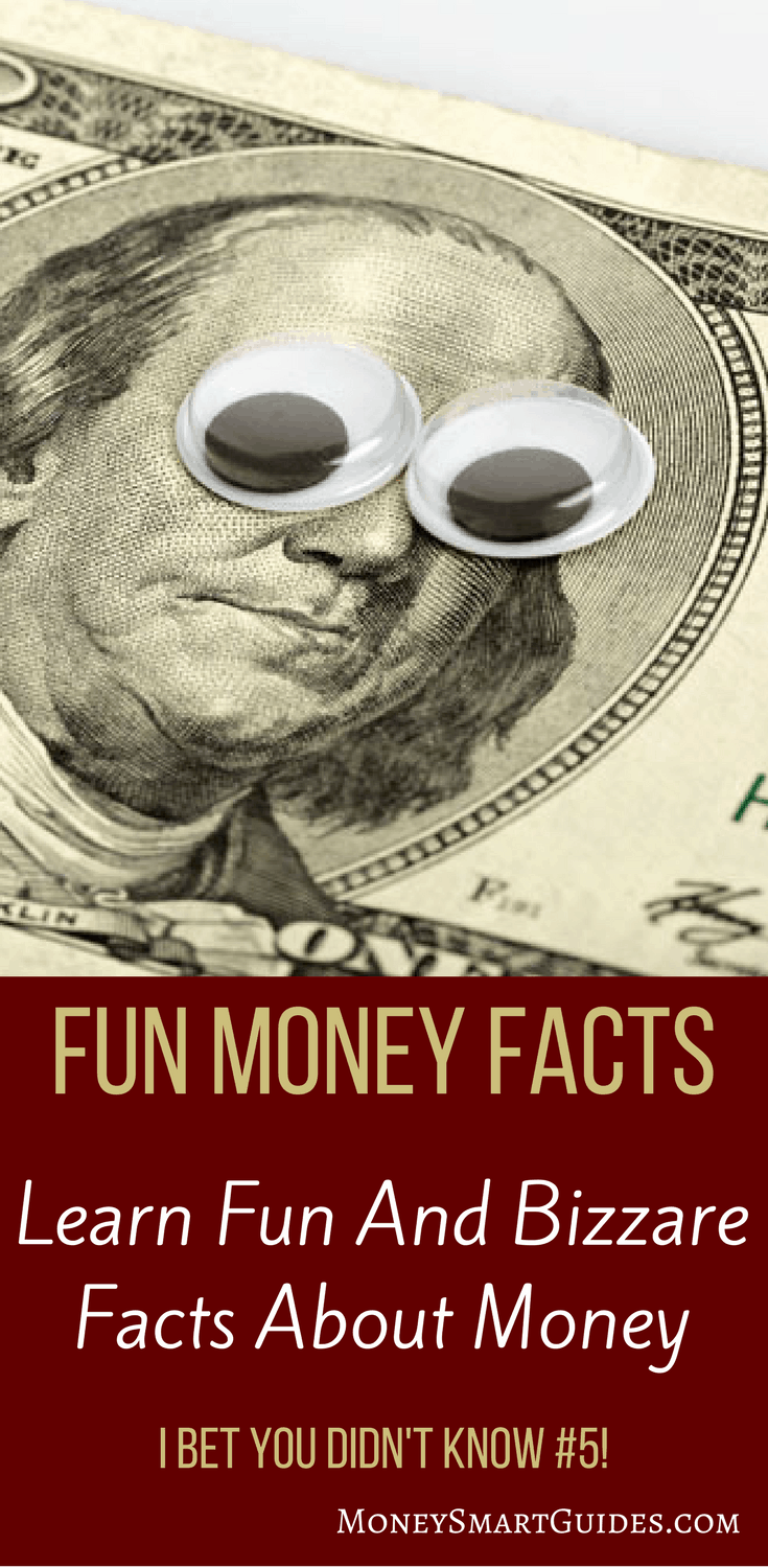 36 Incredible Facts About Money I Bet You Didn't Know | Are you looking for a lighthearted look at money? You've come to the right place! I found this 36 great fun money facts that taught me interesting and bizarre things about money. Did you know #5? Click through to find out!