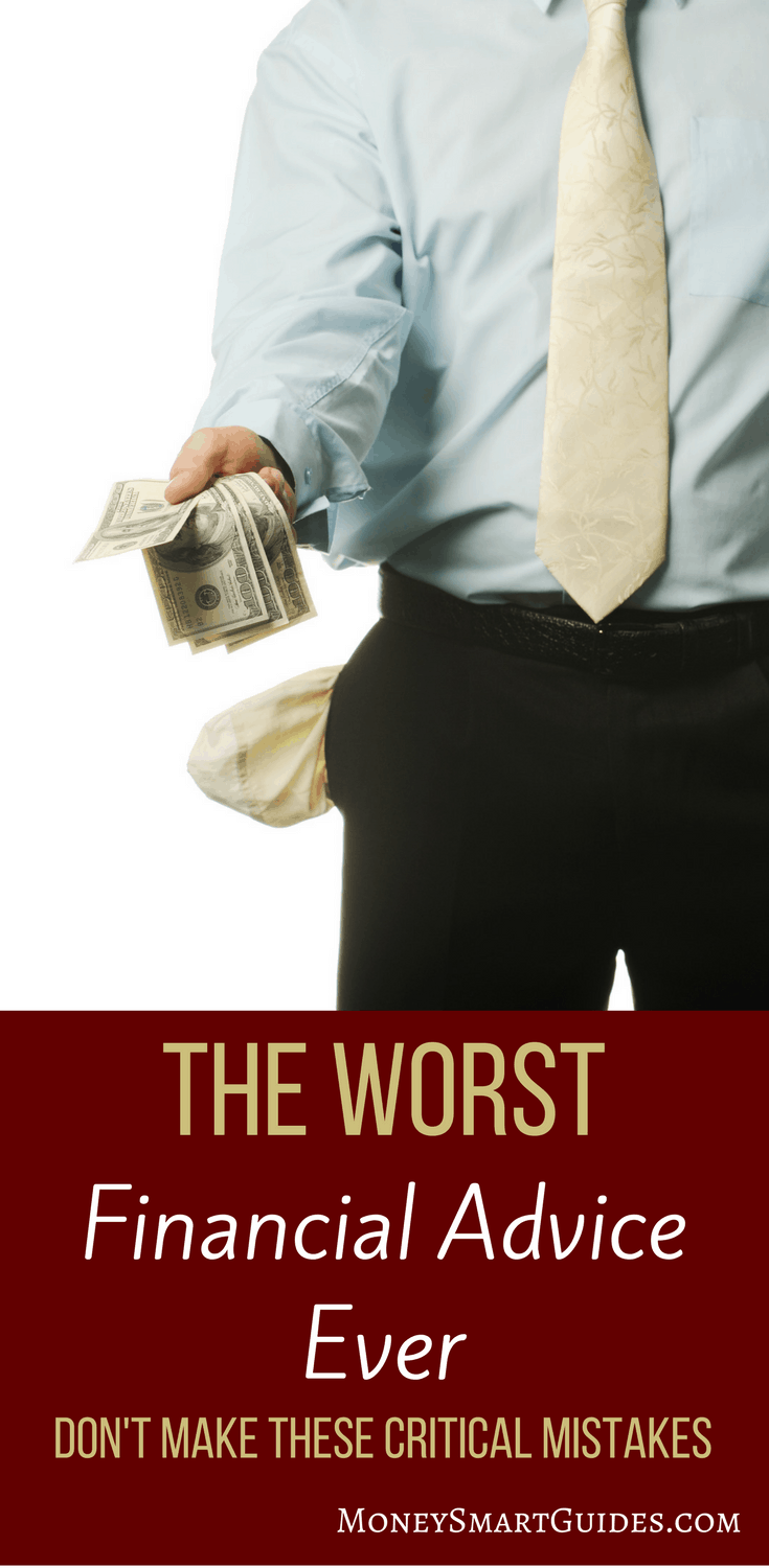 The Most Loathsome Financial Advice Ever And How To Avoid It | There is a lot of financial advice out there. Learn what to ignore and what to listen to when it comes to saving money, debt, making money and investing. Click through to read the post!