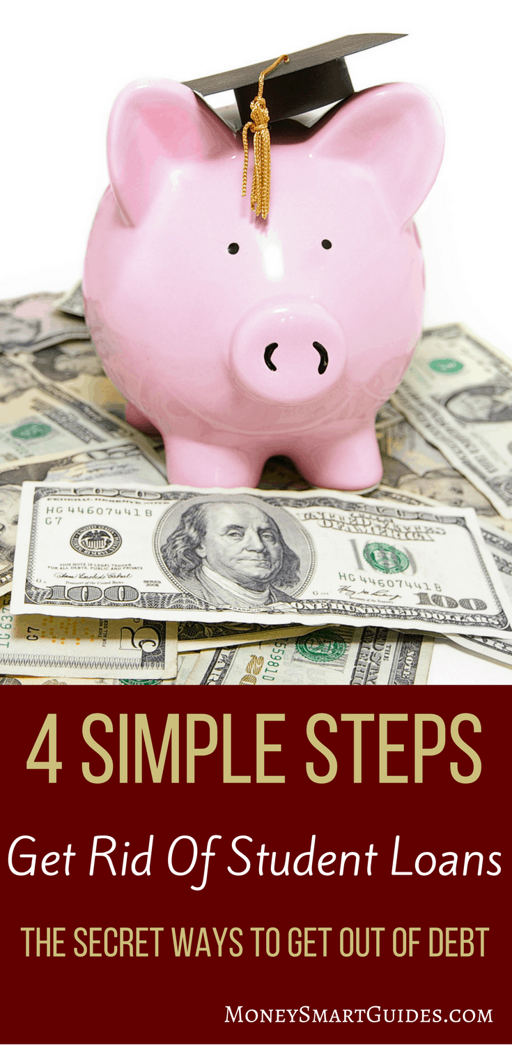 How To Effortlessly Get Rid Of Student Loans In 4 Easy Steps | Do you have student loans you want to pay off? Learn the best tips and tricks to repaying your loans, refinancing them or for student loan forgiveness. Click through to read the post!