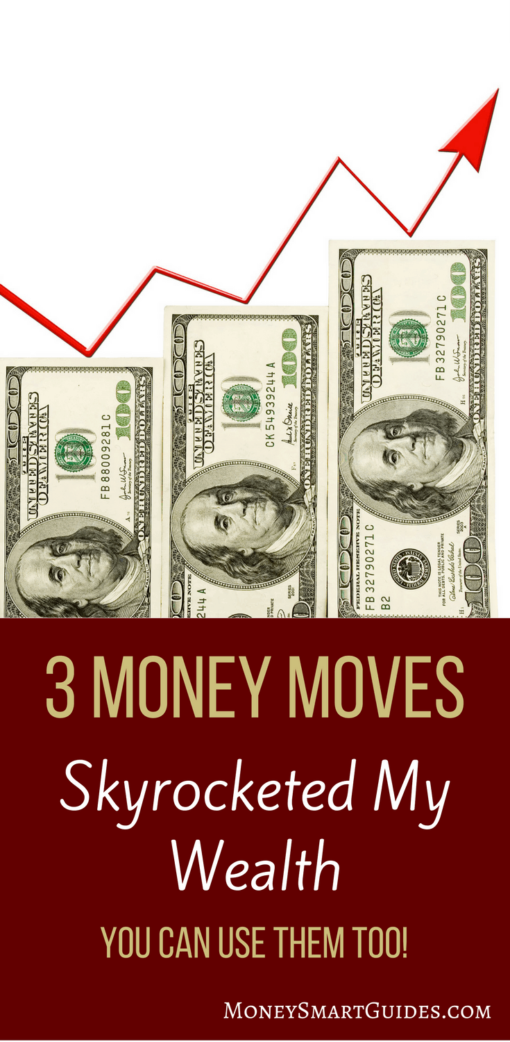 The 3 Money Moves That Skyrocketed My Wealth And Allowed Me To Retire Early | Learn the 3 simple things I did with my money so I could retire super early. Hint, they have to deal with making money and saving money. Click through to learn more!