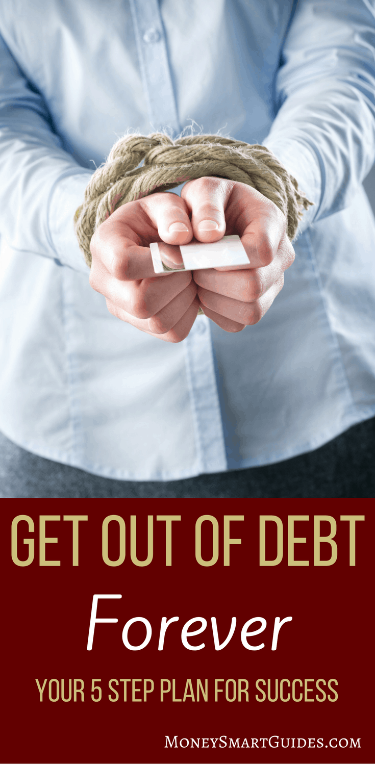 Stop Being A Slave To Debt. 5 Simple Steps To Get Out Of Debt Forever. | Are you tired of the never ending debt cycle? Learn the tips and tricks to overcome your debt and pay off your credit cards and student loans quickly and forever. Click through to read the post!