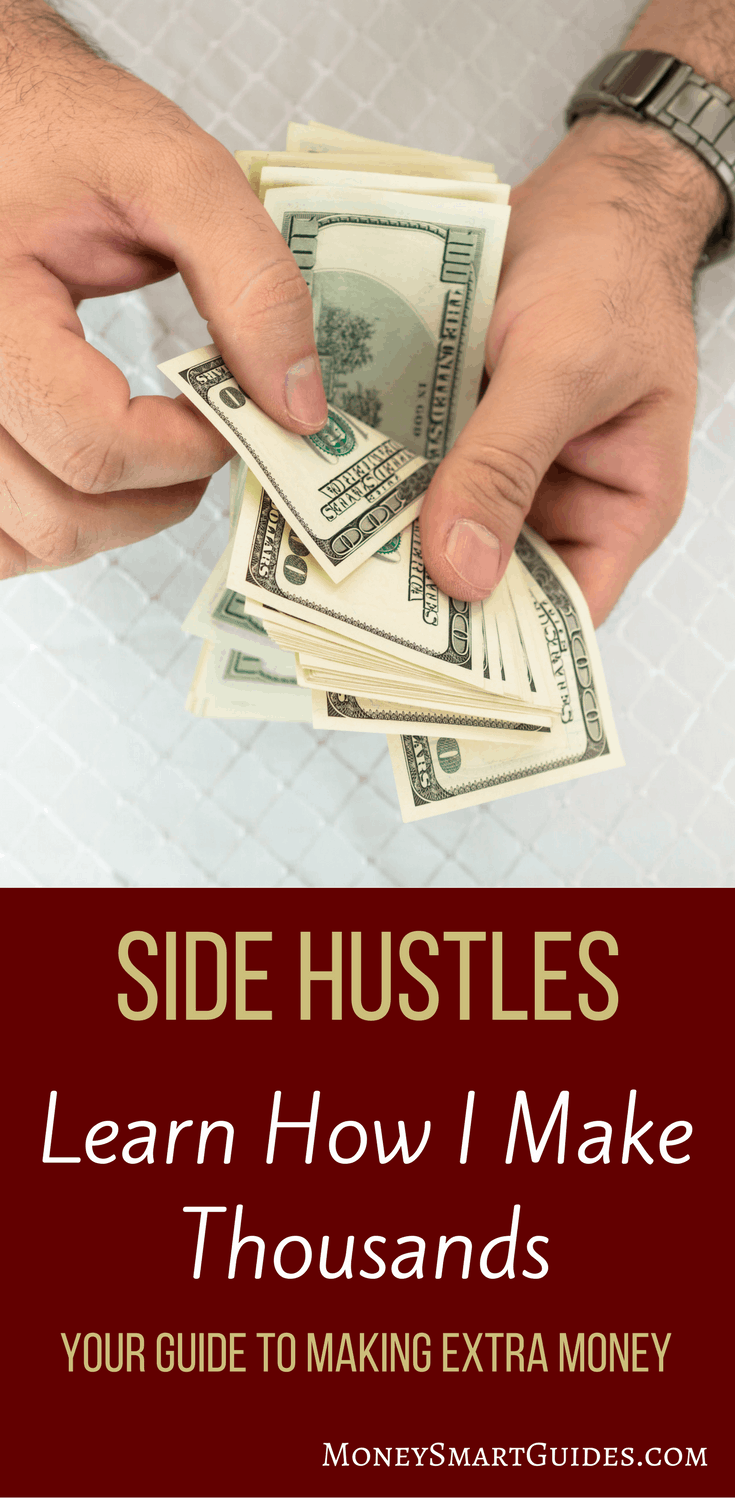 How I Make Thousands From Side Hustles (And How You Can Too) | Looking for some new ways to make extra money on the side? Are you interested in side hustles but don't know where to begin? Click through to learn how I make thousands each year on the side and how you can too!