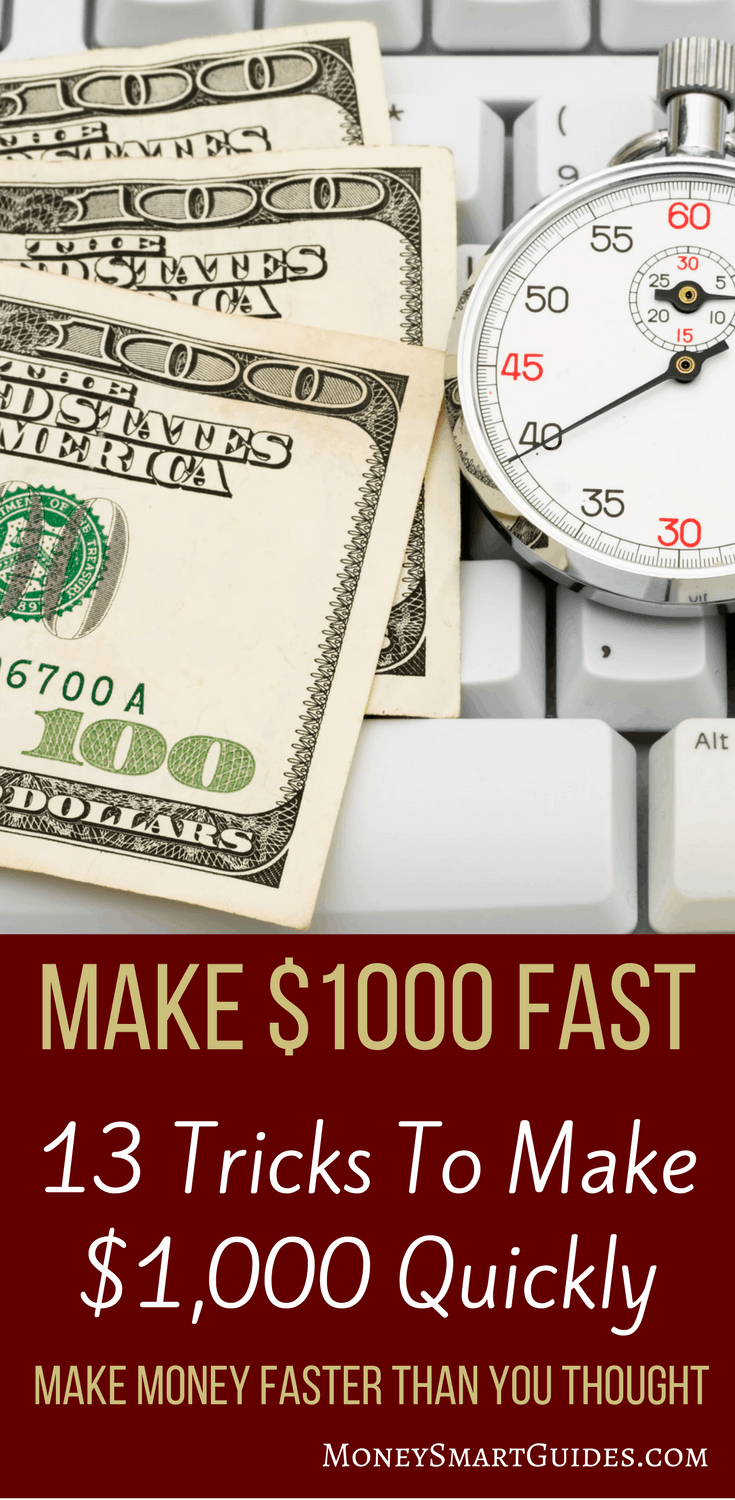 13 Tricks To Make Money Fast | If you need some quick cash, do you know what to do? I found these 13 tricks to make money faster than you thought possible. You can easily combine some of these tricks, work less and make more money. Click through to learn how!